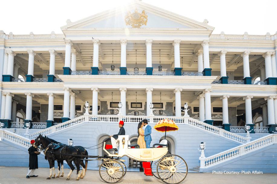 taj fulaknuma palace front