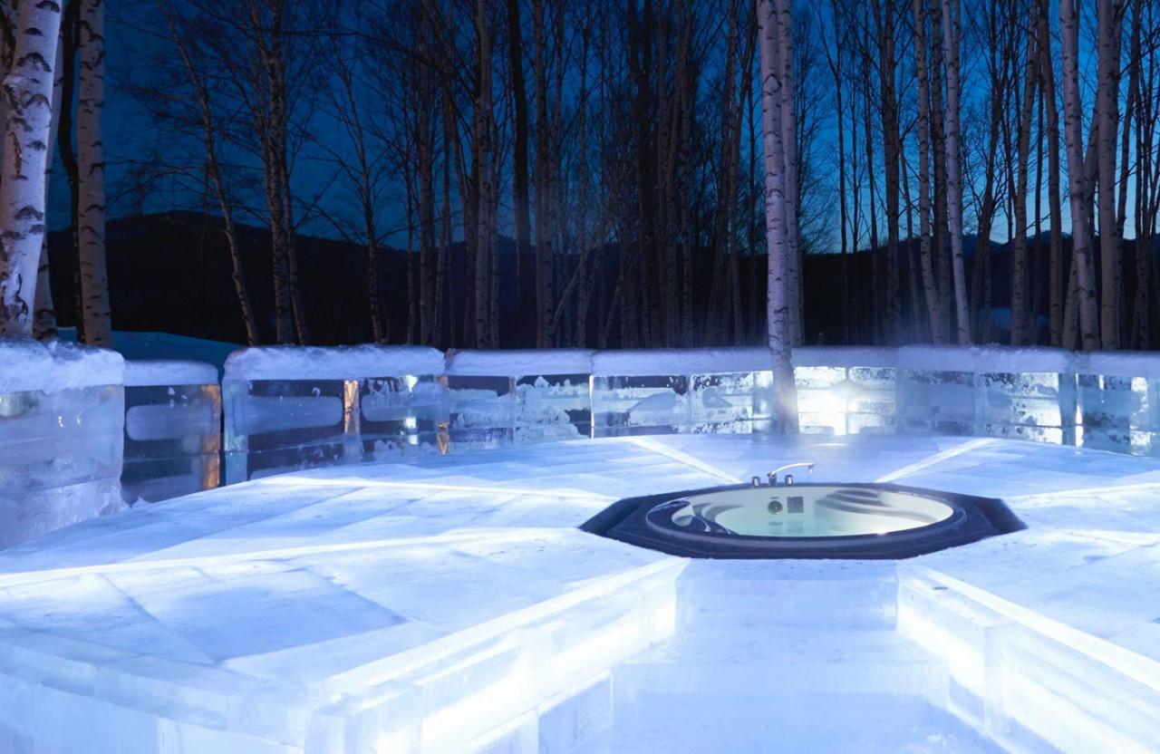 Hoshino Resort Tomamu ice hotel onsen
