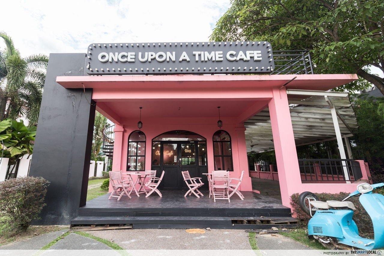 once upon a time cafe exterior jb johor bahru