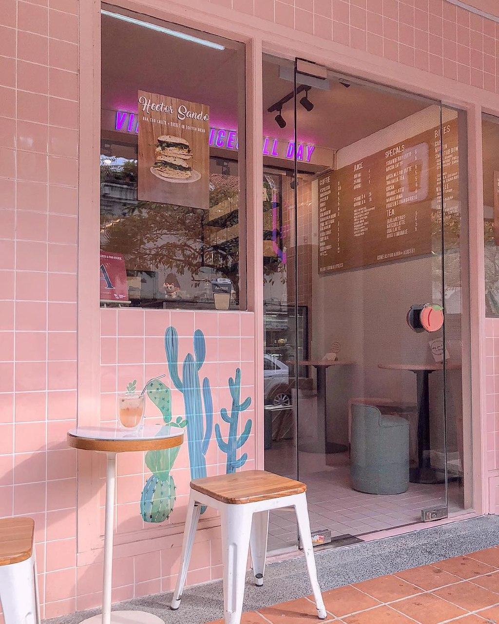 a juicery cafe exterior