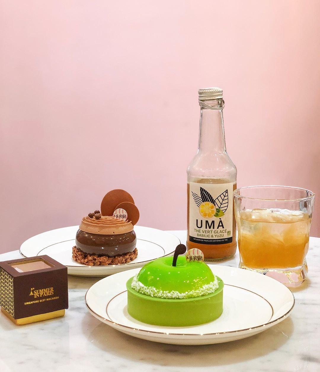a summer in paris cafe singapore pompom dessert