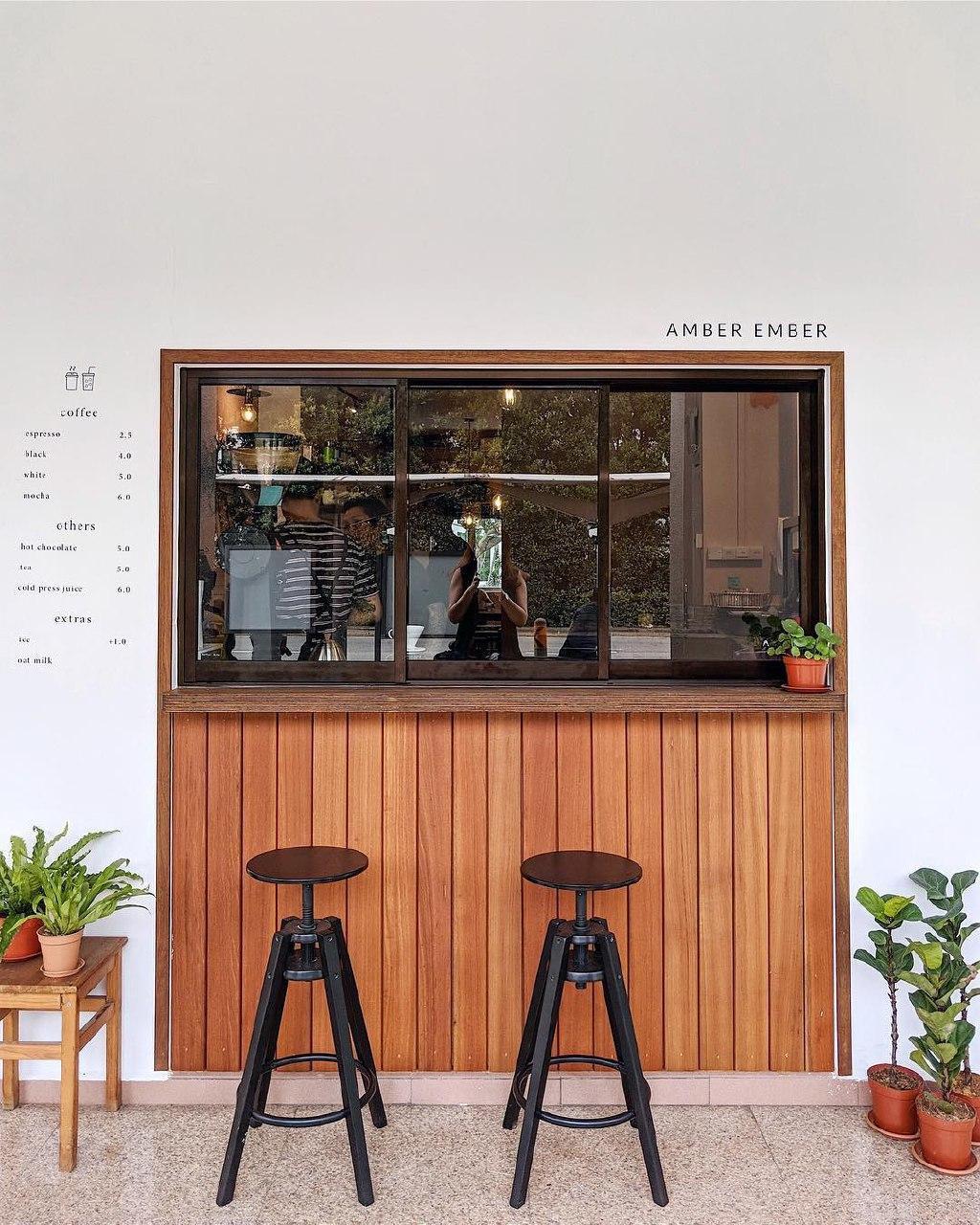 amber ember cafe exterior minimalism
