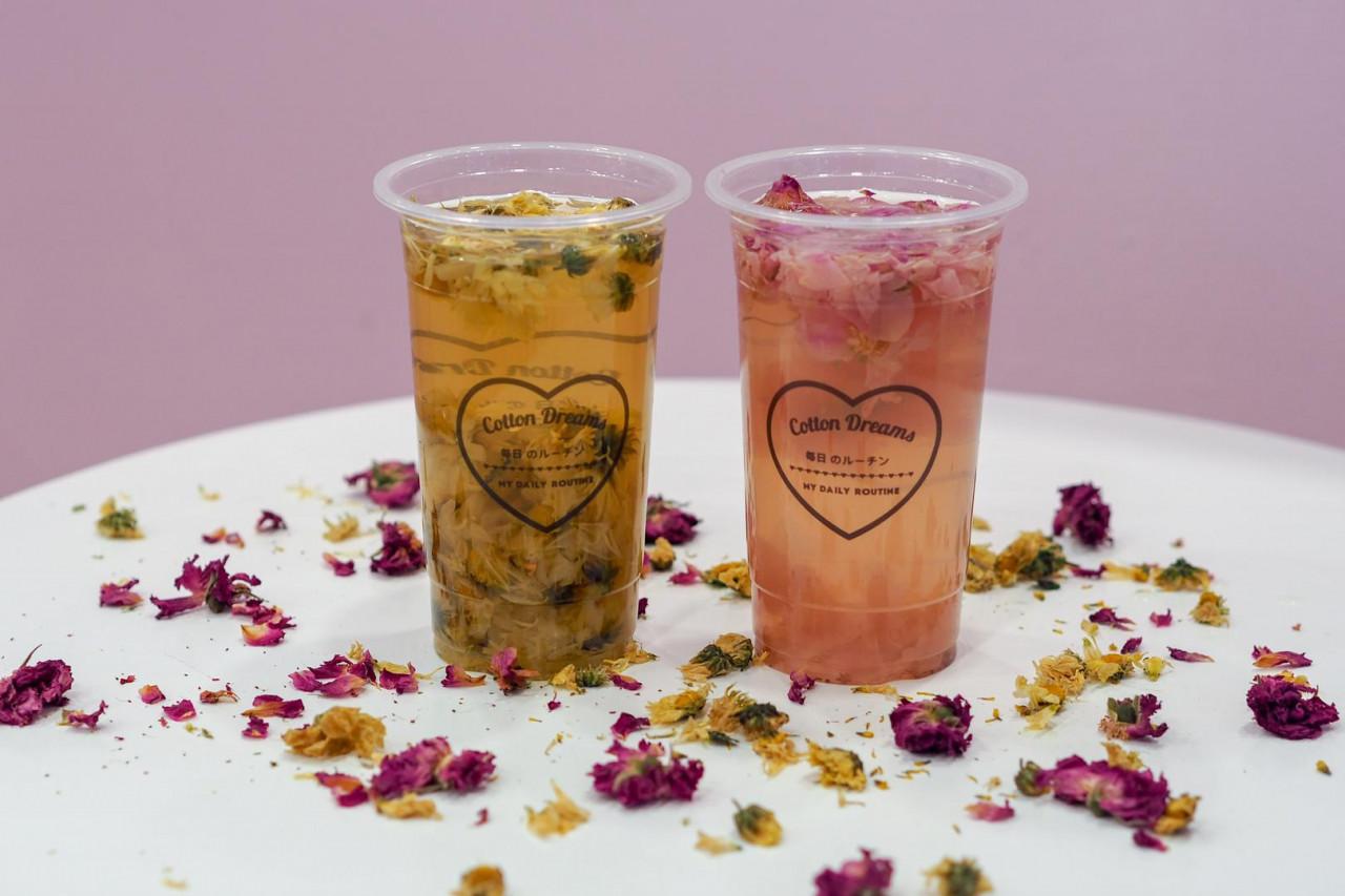 cotton dreams flower infused tea
