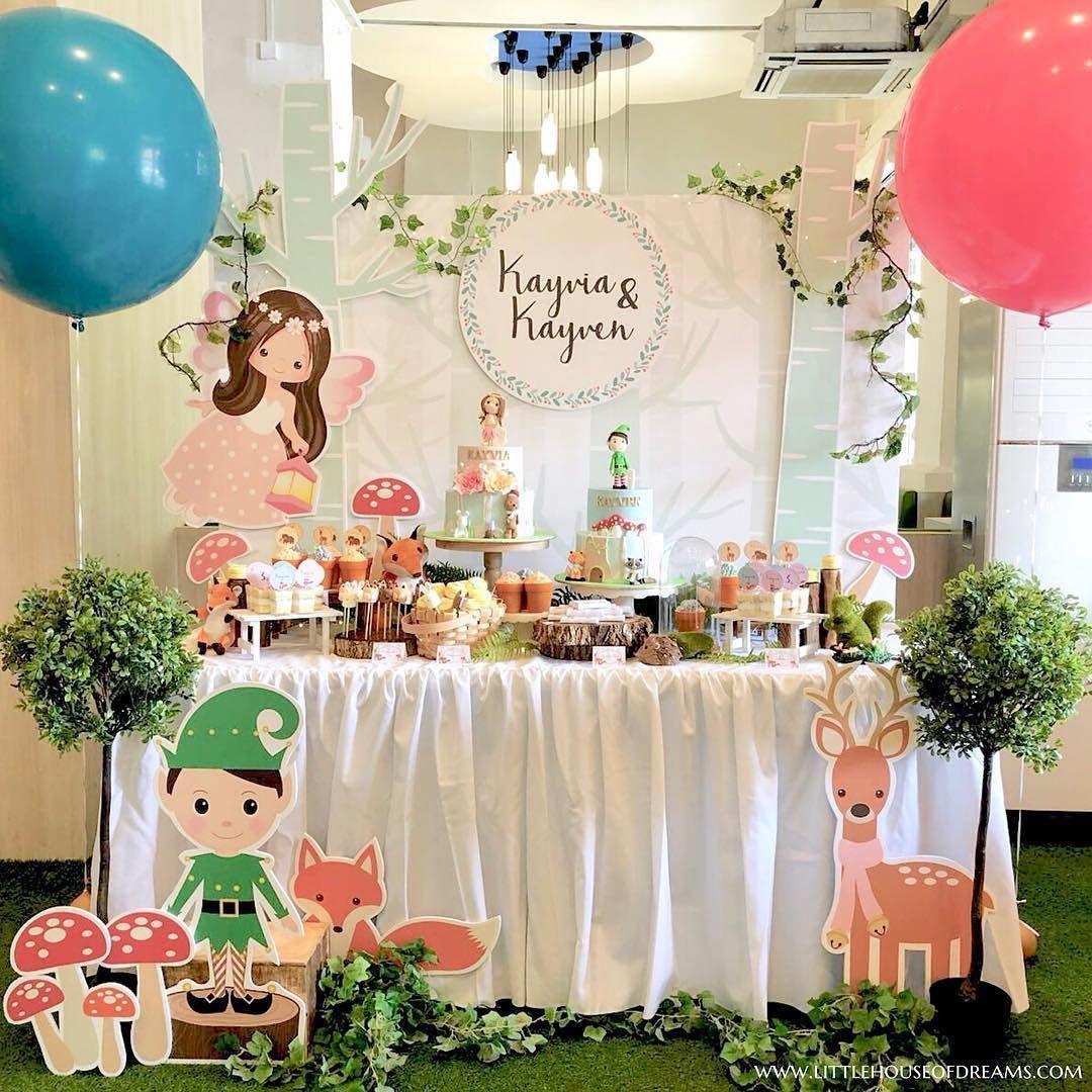 cartoon dessert table