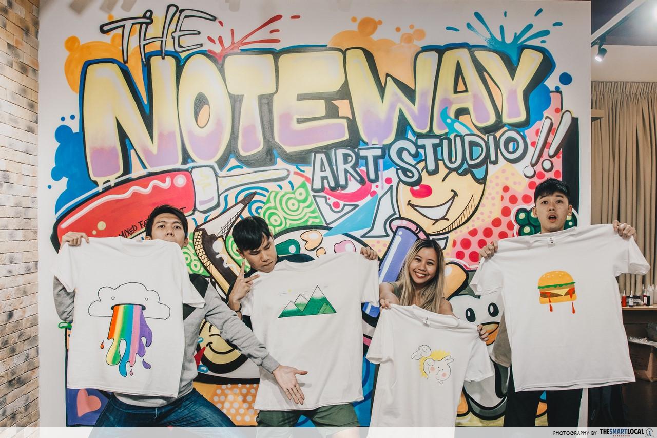 the noteway art studio cohesion activities