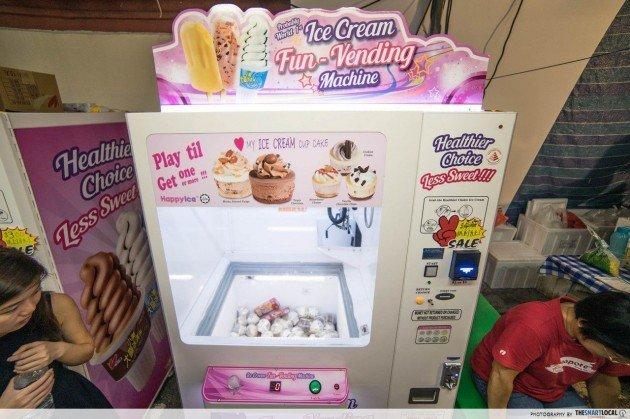 Claw Machines in Singapore, Ice-cream Vending Machine