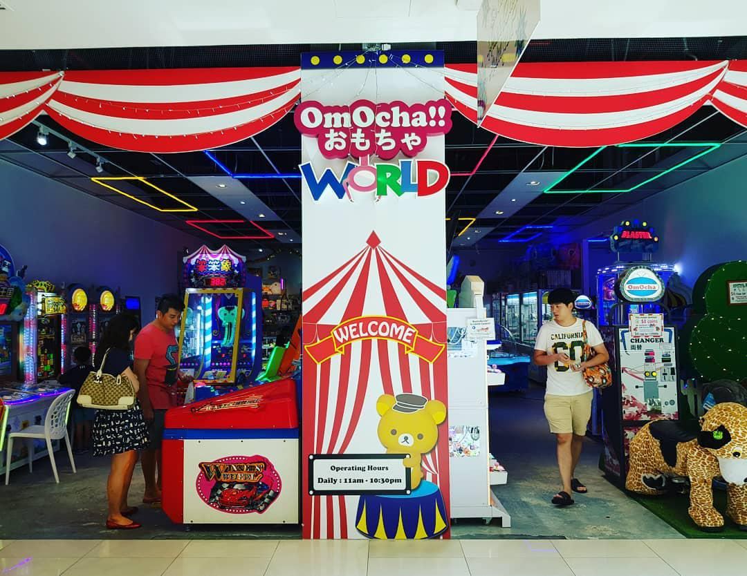 Claw Machines in Singapore, OmOcha World