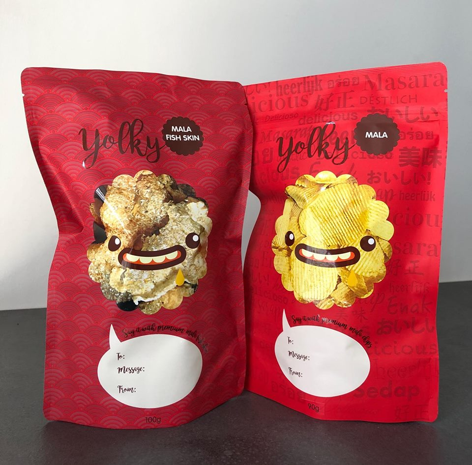 Yolky, Mala Chips in Singapore