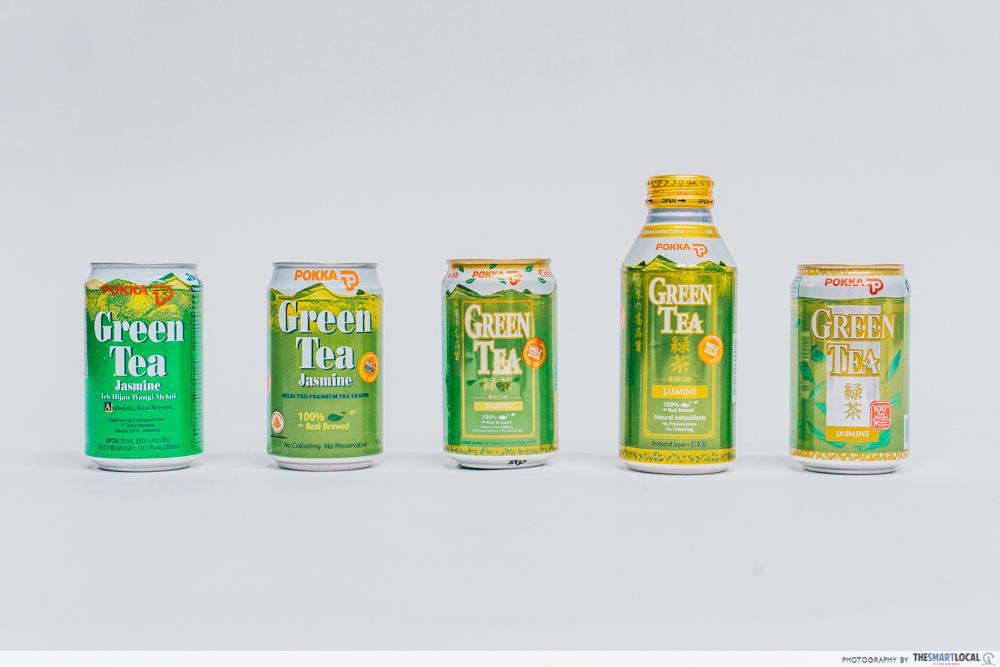 pokka green tea over the years