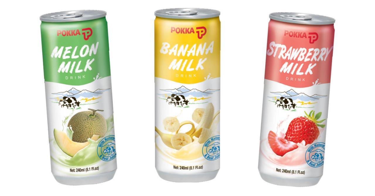 POKKA fruit milk drinks