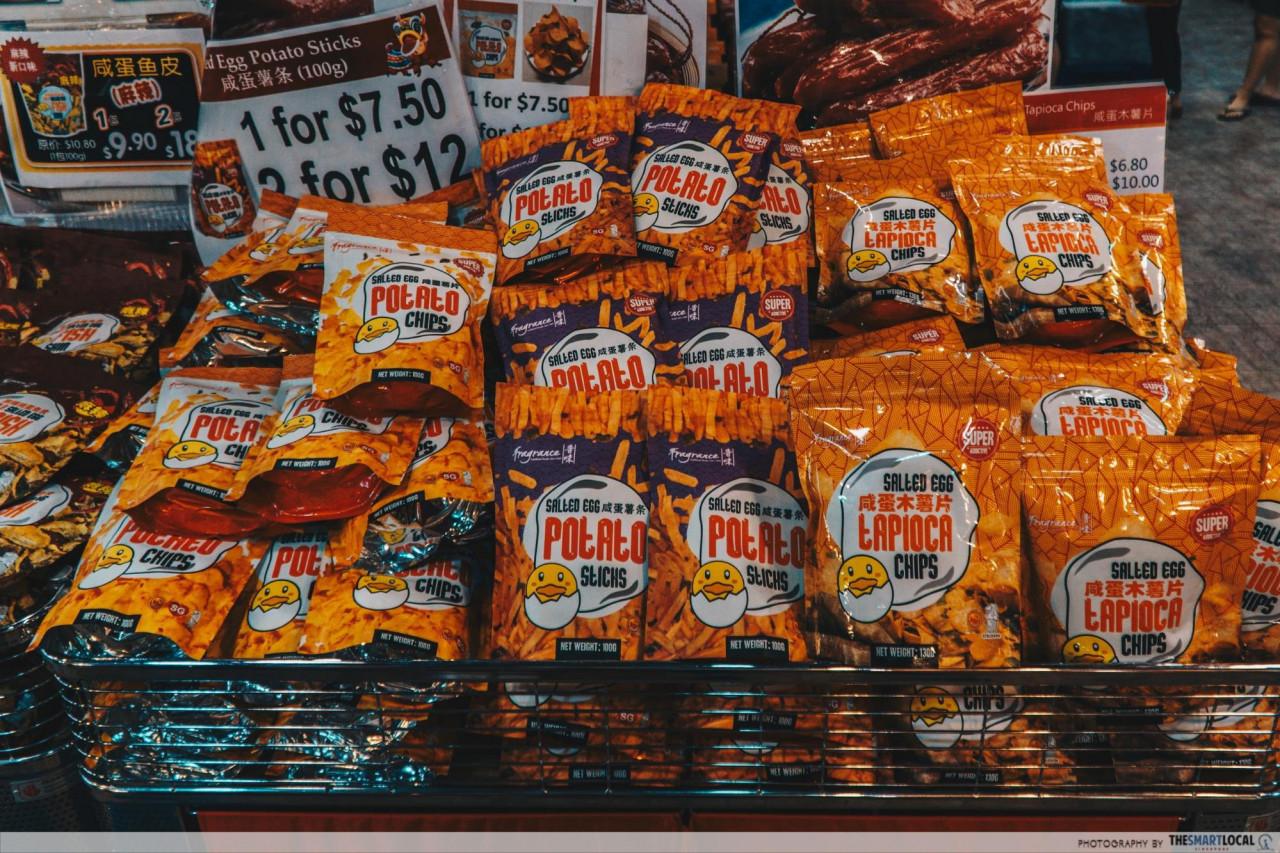 cny salted egg potato chips dj bakery woodlands