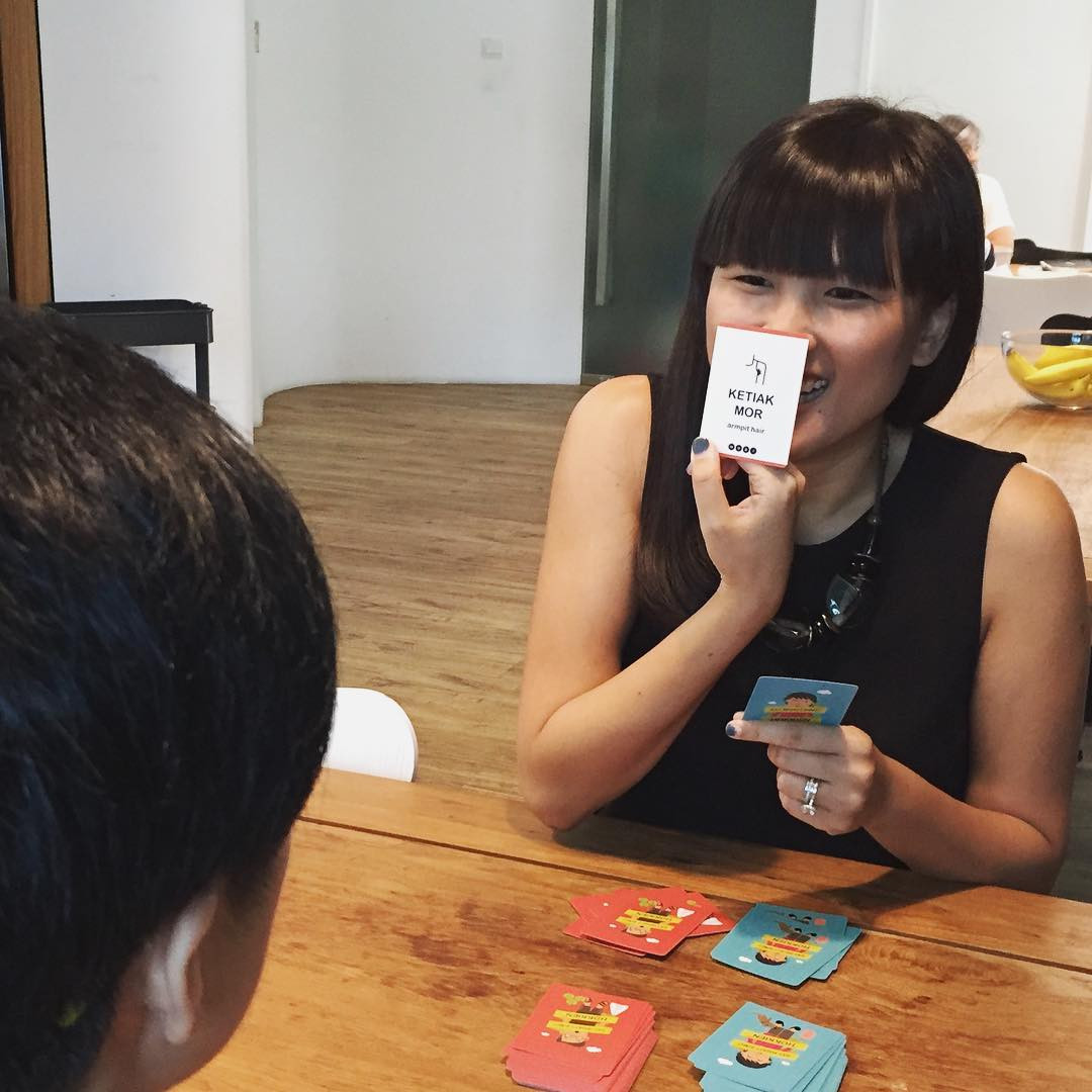 people playing say what card game singapore