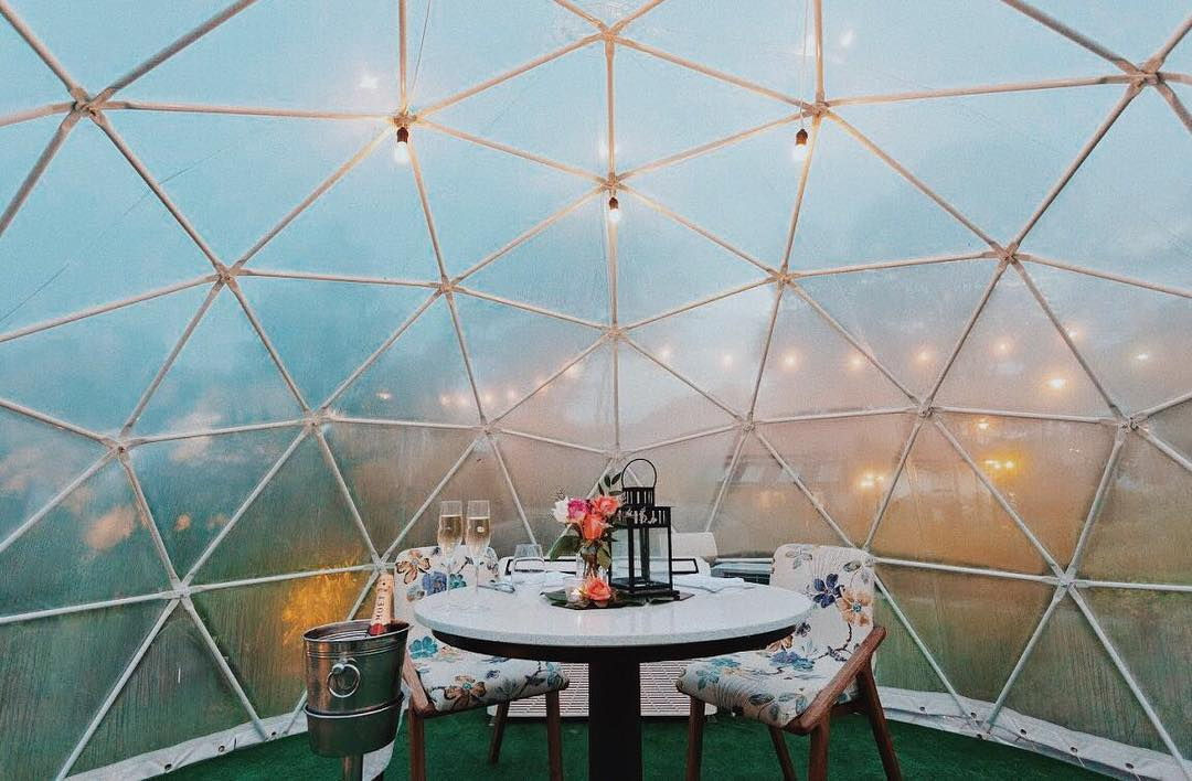 the summerhouse dome garden restaurant valentine's day