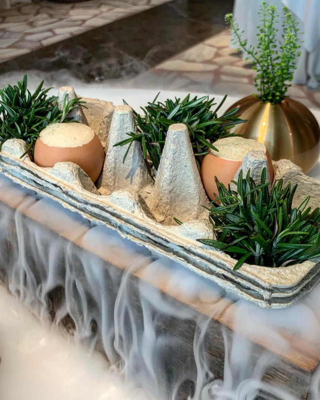 odette smoked egg restaurant fine dining