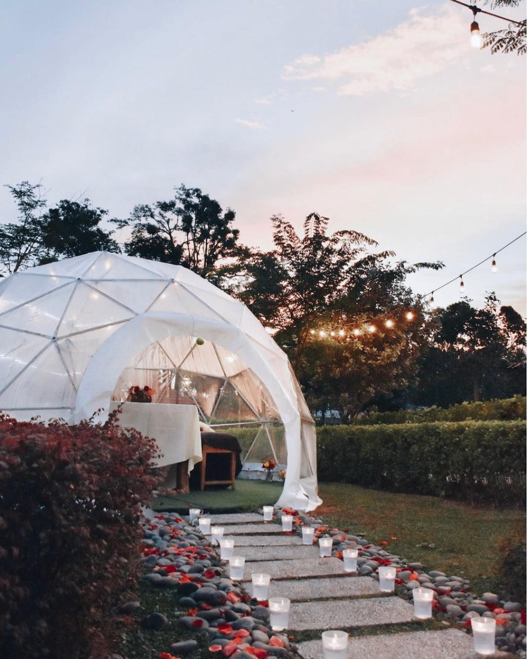 summerhouse garden dome valentine's day restaurant