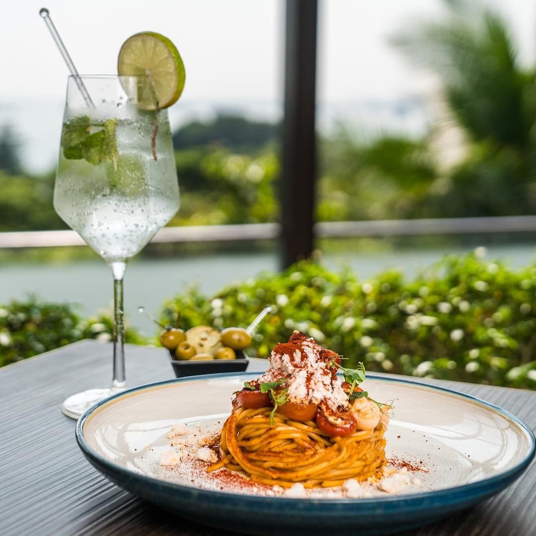 spaghetti the cliff sentosa sofitel food restaurant