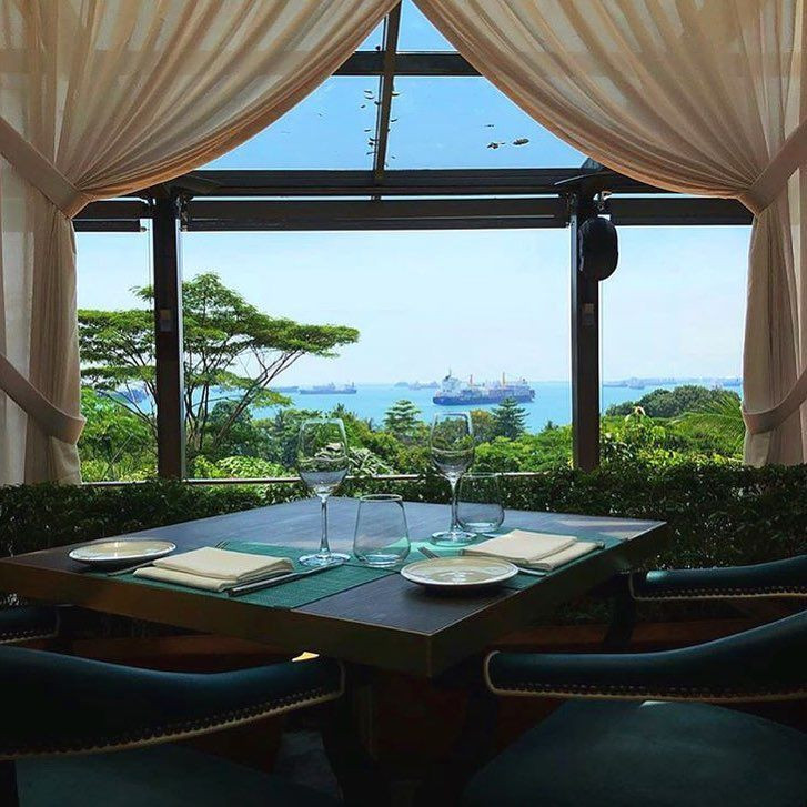 the cliff sofitel hotel sentosa restaurant view