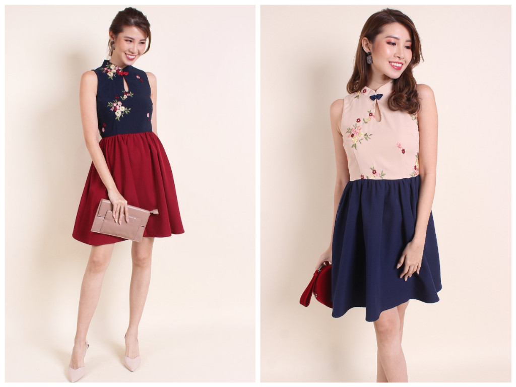 flared skirt cheongsam