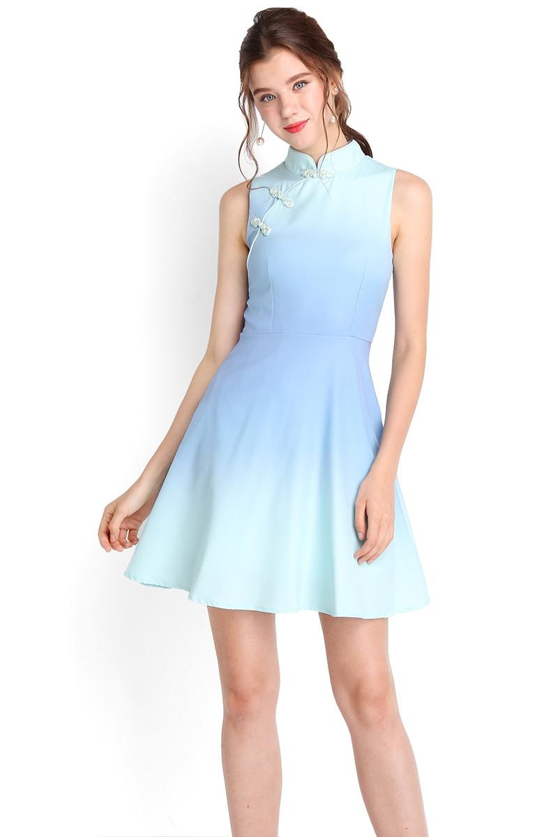 gradient cheongsam dress