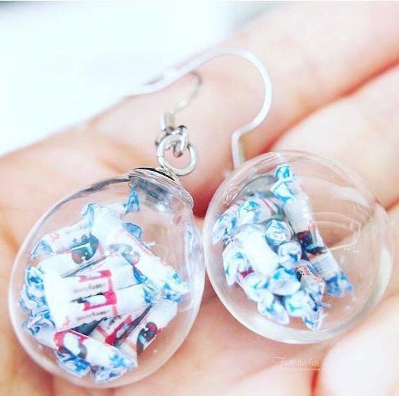 white rabbit sweet earrings