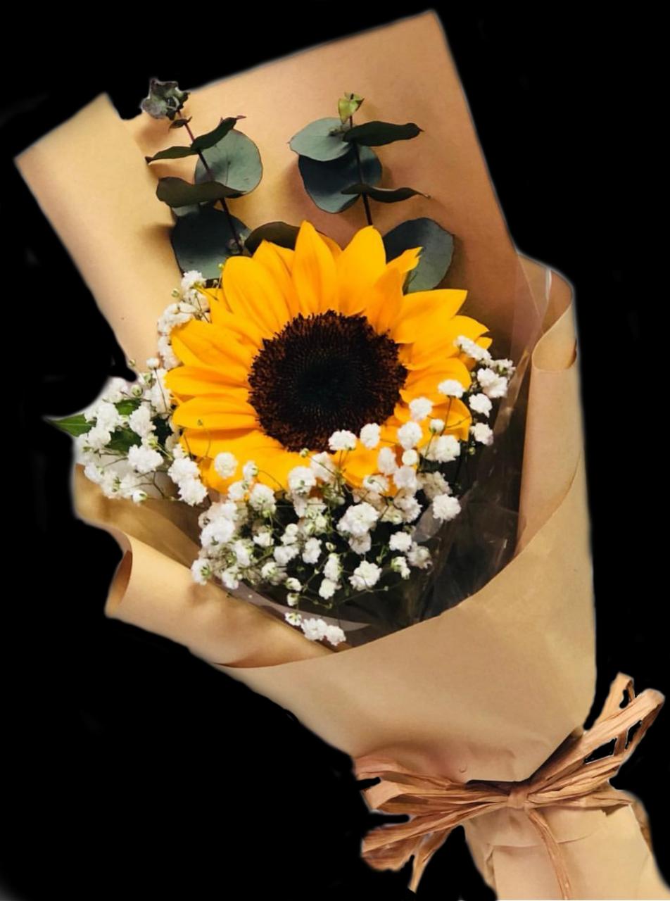 Valentine's Day bouquets under  - Sunflower and baby's breath