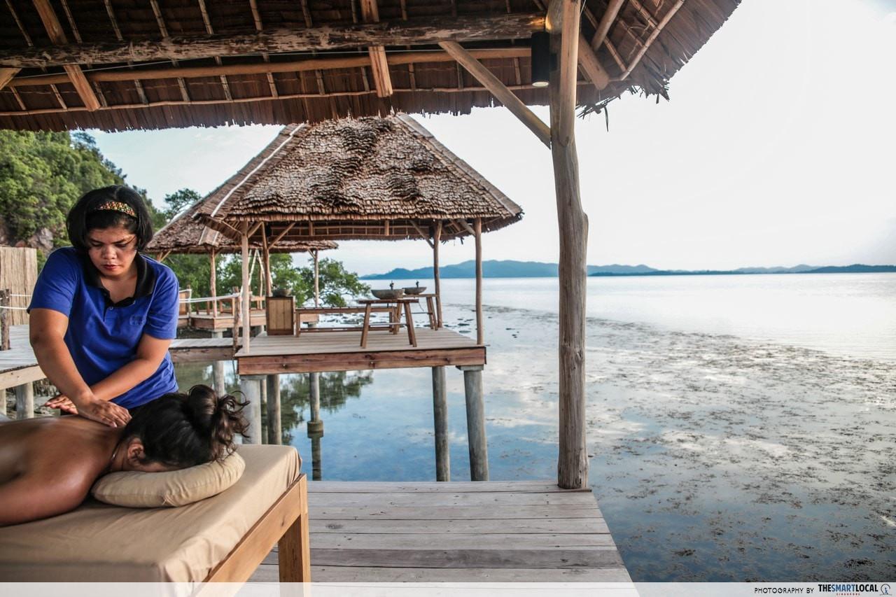 overwater massage telunas