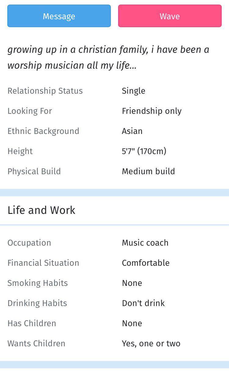 Christian dating app Singapore beste datingside en liners