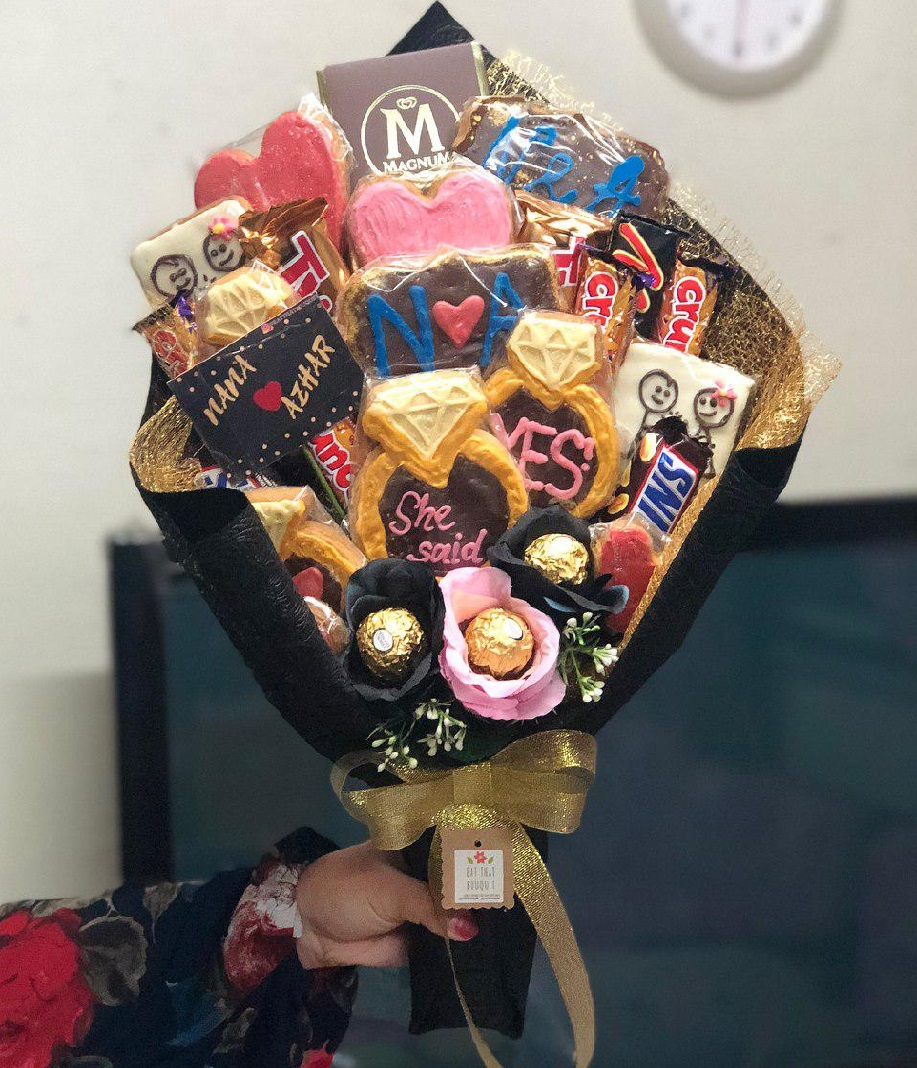 Edible bouquets for Valentine's Day 2019 - cookies