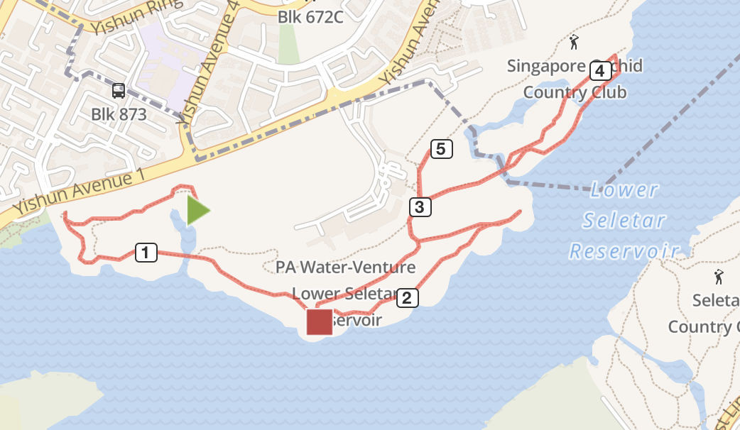 lower seletar running route map