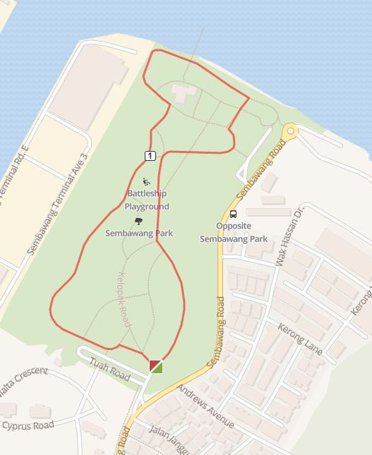 running route sembawang park north