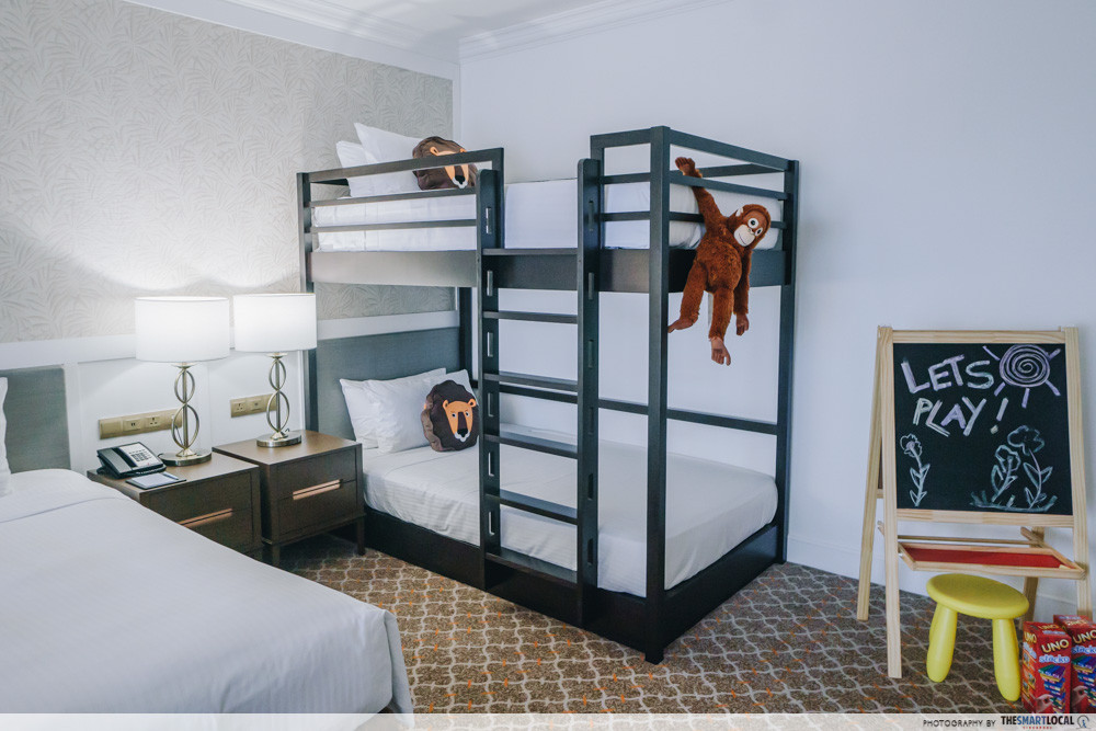 Orchard Rendezvous Hotel Has New Spacious Family Rooms With Bunk Beds Game Consoles Pool Floats