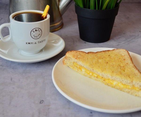 toast coffee kopi & tarts breakfast set