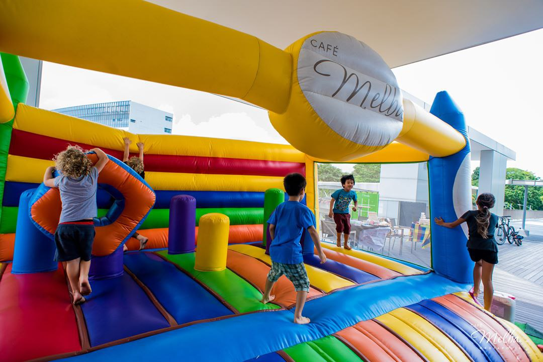 bouncy castle melba cafe free meals for kids things to do march