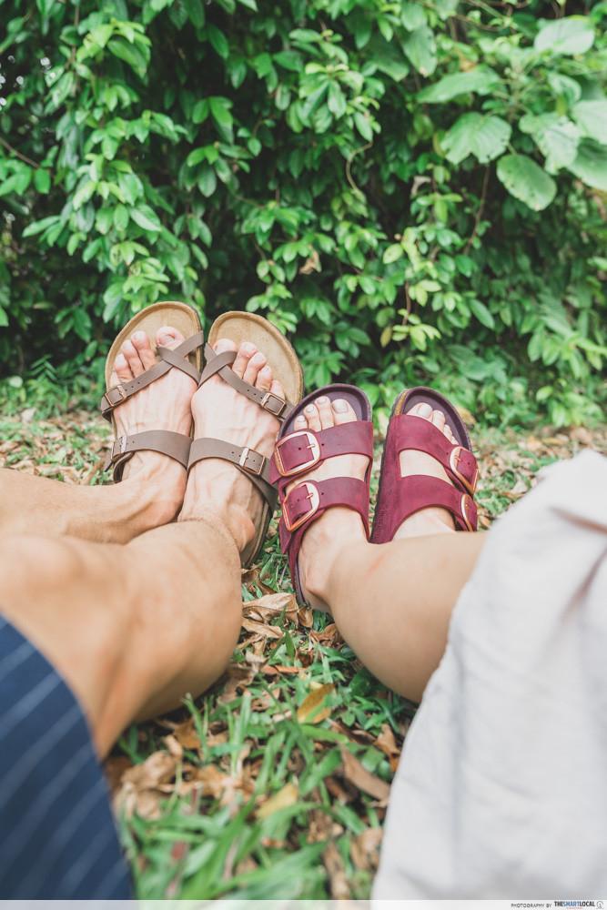 Picnic spots - Portsdown Road - Birkenstock sandals