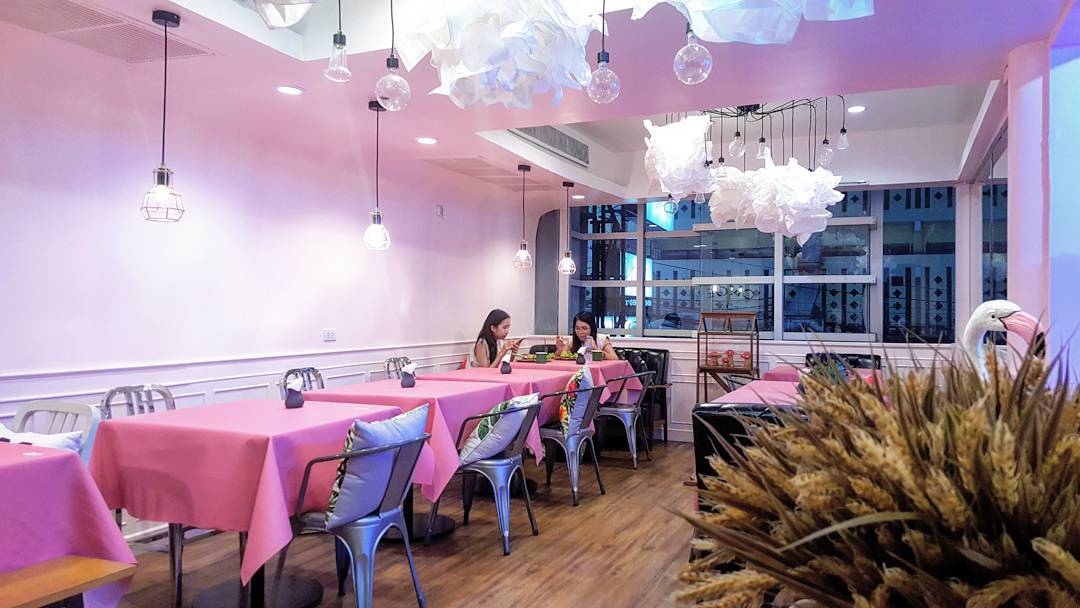 once cafe and cuisine pink themed cafe restaurant shop bangkok thailand