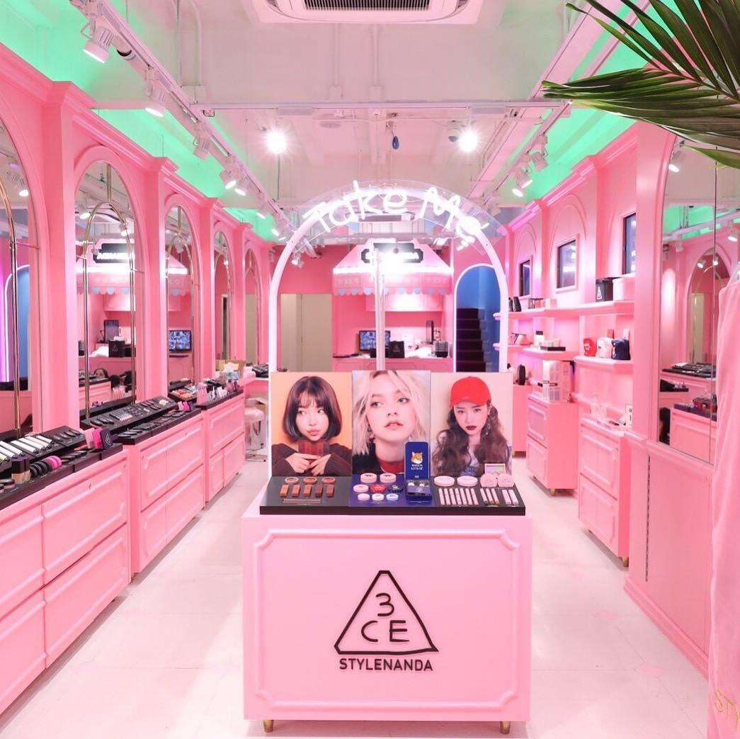 stylenanda pink hotel bangkok thailand korea pink shop themed 3ce makeup