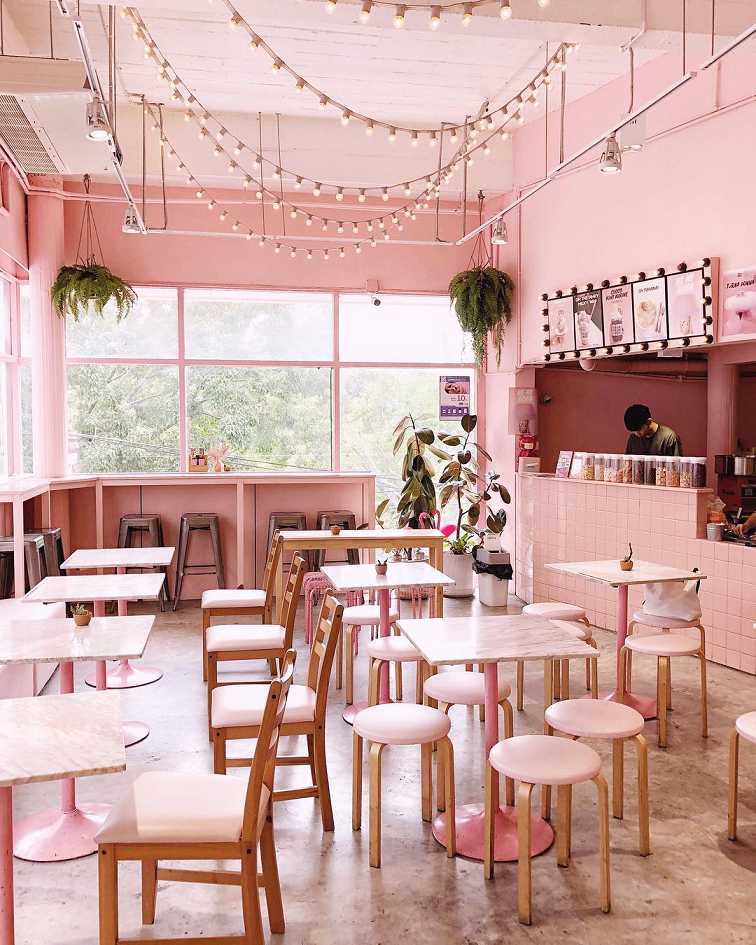 pink planter pinkplanter cafe matchbox pink themed cafe shop bangkok thailand