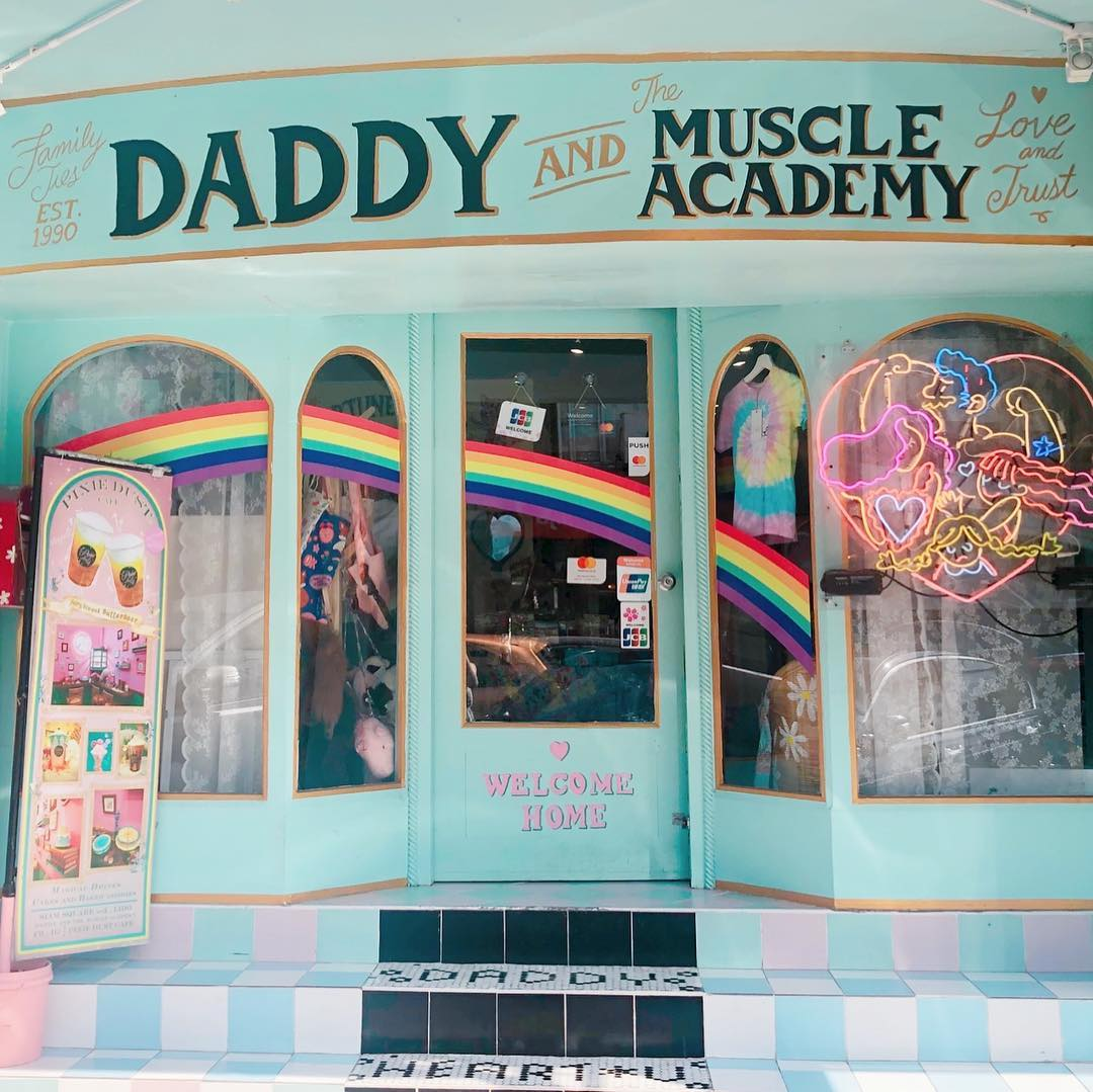 daddy and the muscle academy pink blue shops themed cafe vintage bangkok clothes