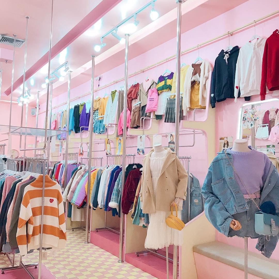 cintage school bangkok themed cafes shops pink