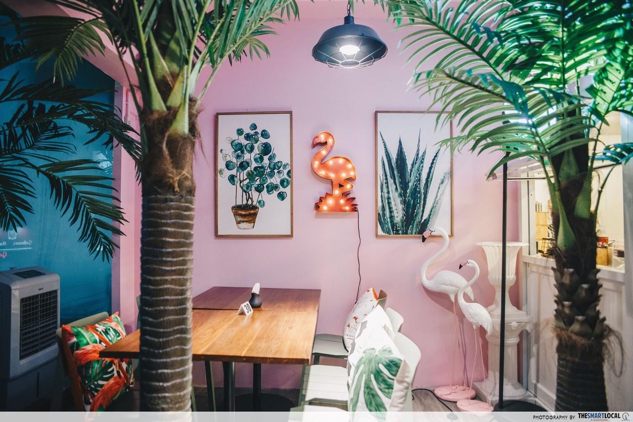 once cafe and cuisine pink themed cafe restaurant shop bangkok thailand