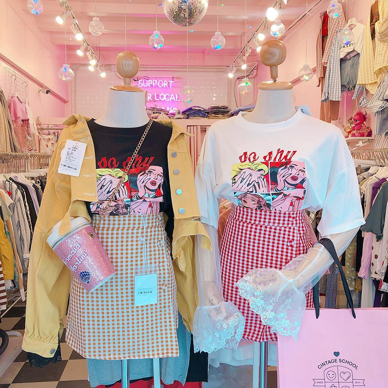 vintage clothes bangkok thailand cintage official pink shops cafes