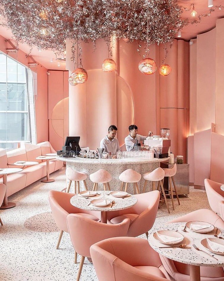 house of eden pink restaurant themed cafe shops bangkok pink drinks milkshake instagrammable