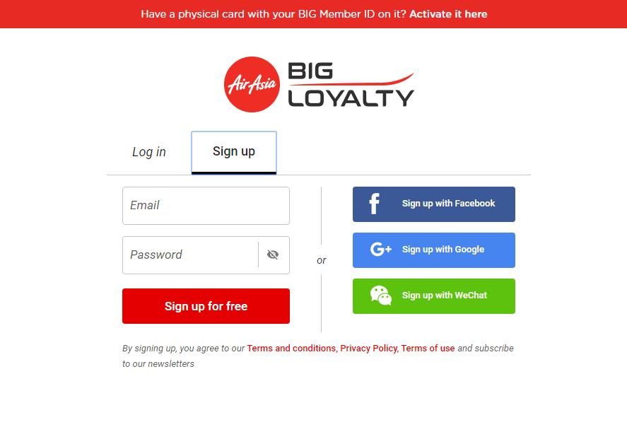 BIG Loyalty Air Asia