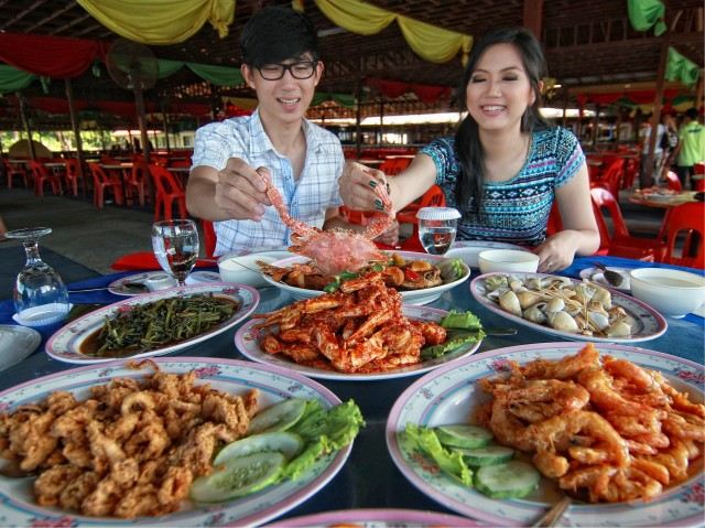 cheap batam seafood crab golden prawn 933 kelong style