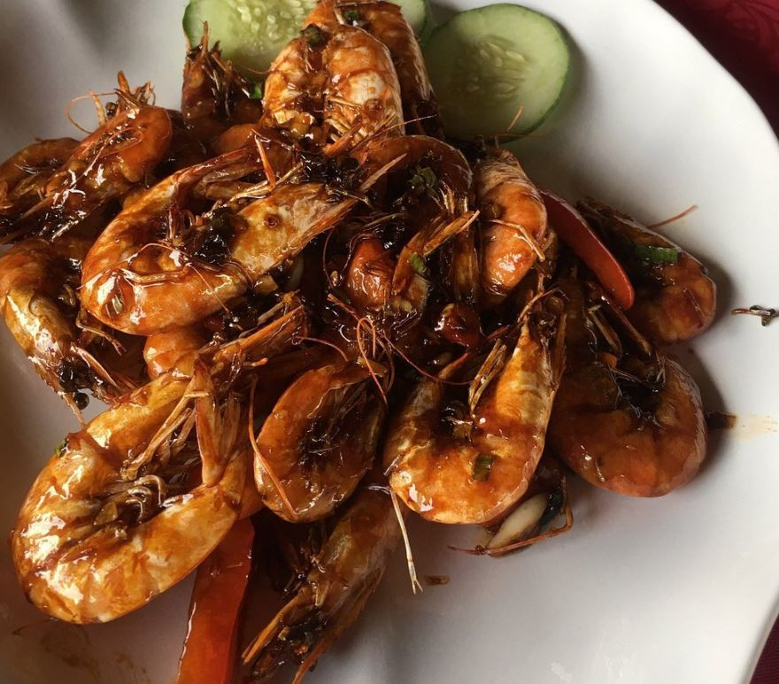 cheap batam seafood crab golden prawn 933 kelong style sea prawn