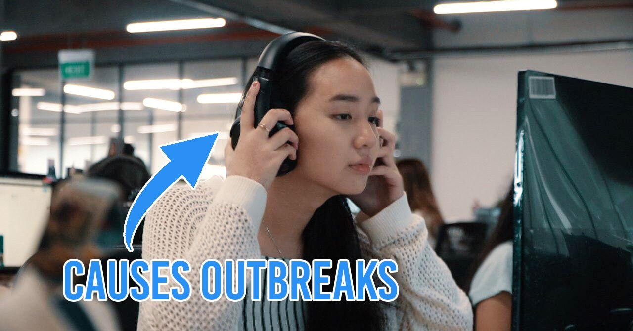 headphones causes outbreaks skincare