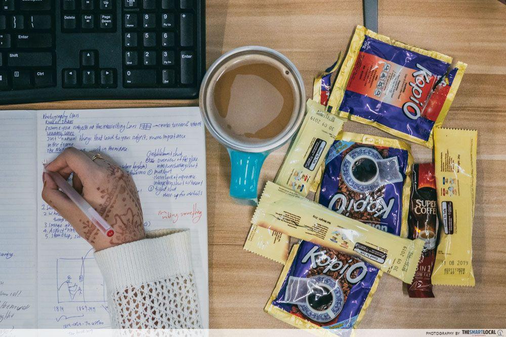 coffee office work notebook