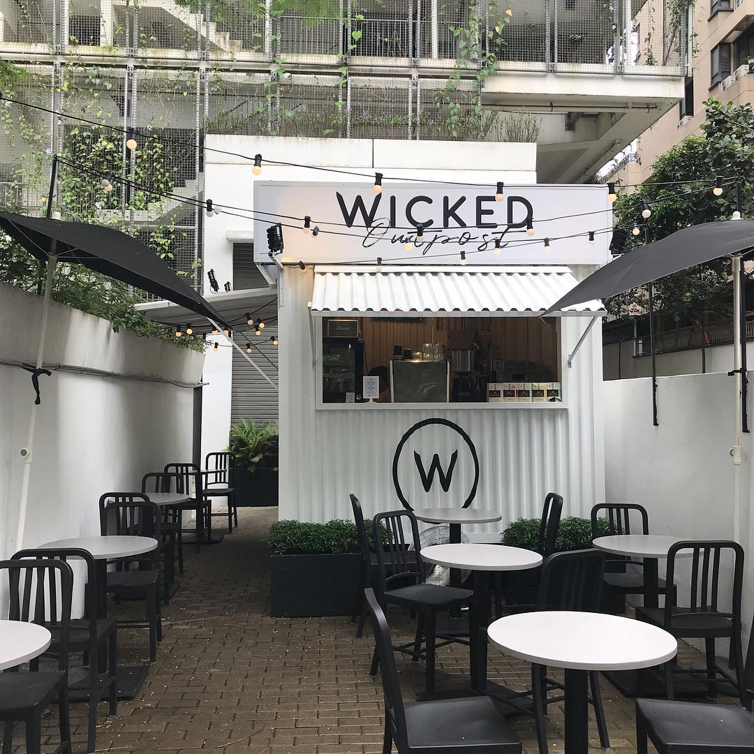 Wicked Coffee's outdoor dining area