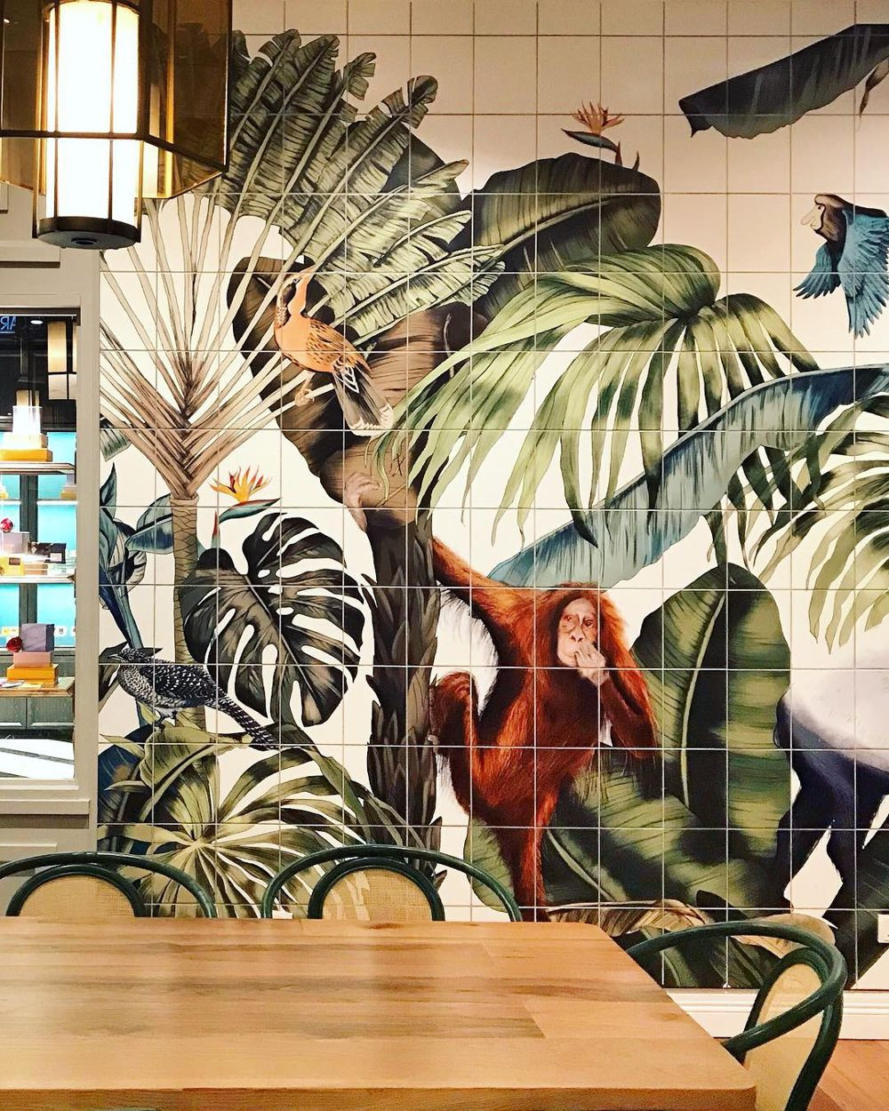 Jungle mural at Bo All Day Dining