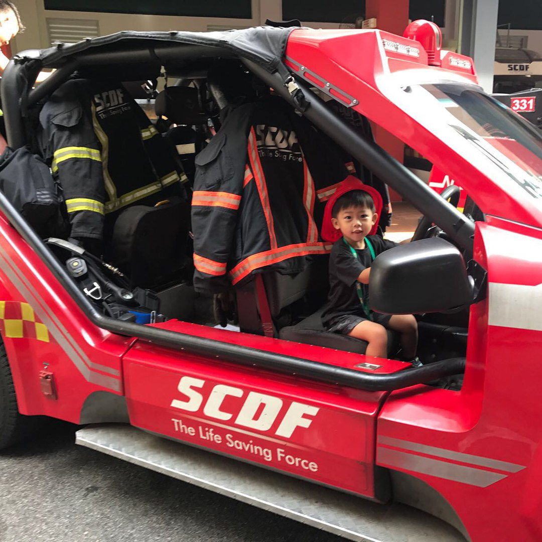 kid fire station open house